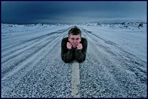 привал на зимней дороге