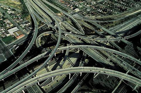 транспортная развязка в Лос-Анджелесе